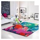 Tapis SPRING FLOWER bleu multicolore Esprit Home