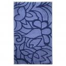 tapis de bain esprit home flower shower bleu