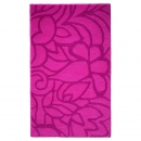 tapis de bain esprit home flower shower rose