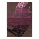 tapis moderne esprit home feather taupe et rose