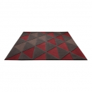 Tapis TRIANGLE Taupe et Rouge - Esprit Home