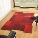 Tapis laine tufté main rouge Collage Flair Rugs