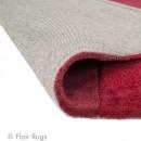 Tapis tufté main rouge Squared Flair Rugs