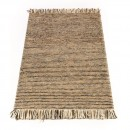 Tapis laine tissé main marron Maya Flair Rugs