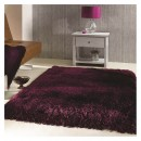 Tapis shaggy tufté main violet Pearl Flair Rugs