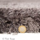 Tapis shaggy tufté main gris Pearl Flair Rugs