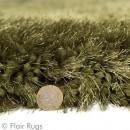 Tapis shaggy tufté main vert Pearl Flair Rugs