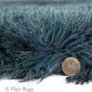 Tapis shaggy tufté main bleu Pearl Flair Rugs