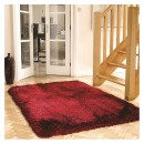 Tapis shaggy tufté main rouge Pearl Flair Rugs