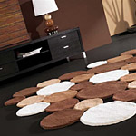 Tapis de Carving FRICKS en laine marron
