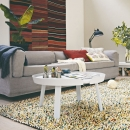 Tapis Shaggy ROCKS MIX Blanc Multicolore Brink & Campman