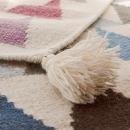 Tapis pour enfant Art For Kids TRIANGLE rose tissé main en laine