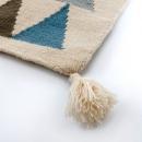 Tapis enfant tissé main en laine TRIANGLE bleu Art For Kids