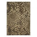 Tapis moderne Snake or et marron Wecon