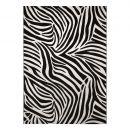 tapis moderne zebra noir et blanc cassé  wecon
