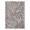 tapis moderne wecon zebra gris et blanc