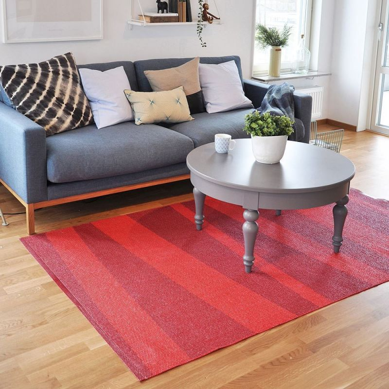 ... de couloir u0026gt; Tapis de couloir zu00e9bru00e9 rouge SOFIE SJOSTROM DESIGN ARE
