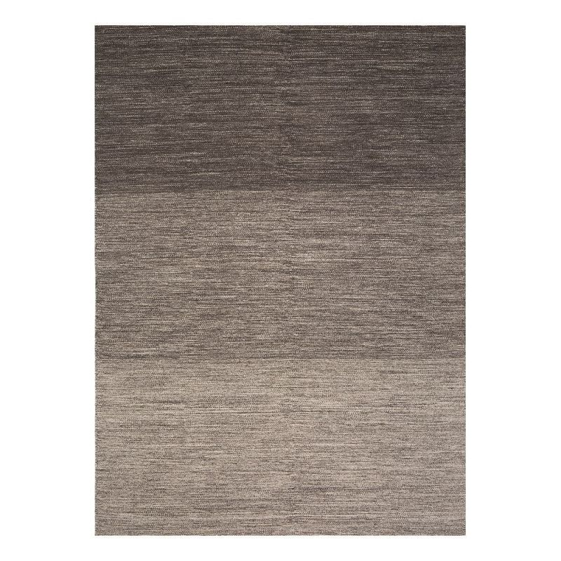 tapis moderne ligne pure laine uni marron flatweave 140 x 200. Black Bedroom Furniture Sets. Home Design Ideas
