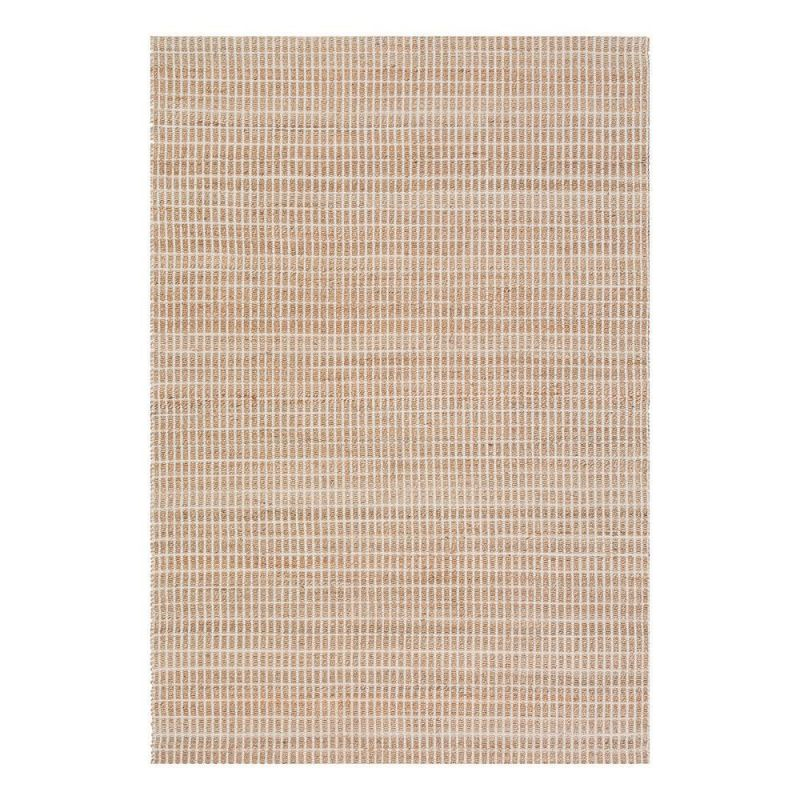 tapis moderne coton uni beige flatweave ligne pure 60 x 120. Black Bedroom Furniture Sets. Home Design Ideas