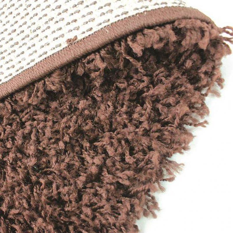 Tapis shaggy marron 4cm flair rugs 70x140 - Tapis shaggy chocolat ...