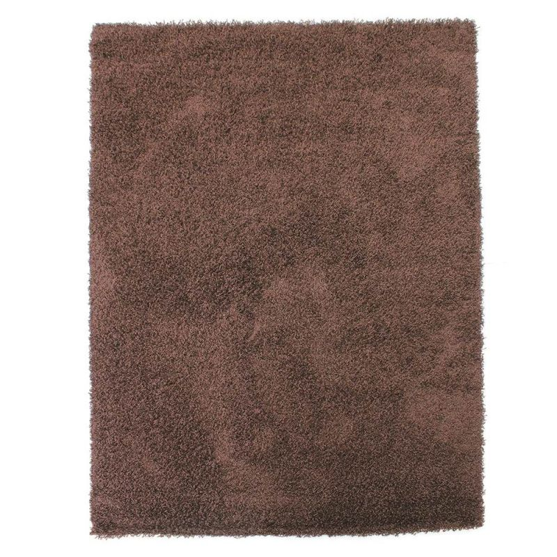 tapis shaggy marron 4cm flair rugs 70x140. Black Bedroom Furniture Sets. Home Design Ideas