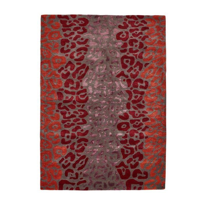 tapis moderne leopard rouge angelo 140 x 200. Black Bedroom Furniture Sets. Home Design Ideas