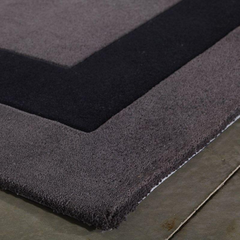 tapis moderne noir tuft main angelo loft 200x300. Black Bedroom Furniture Sets. Home Design Ideas