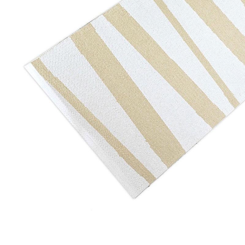 tapis de couloir are ray blanc et beige sofie sjostrom design 70x100. Black Bedroom Furniture Sets. Home Design Ideas