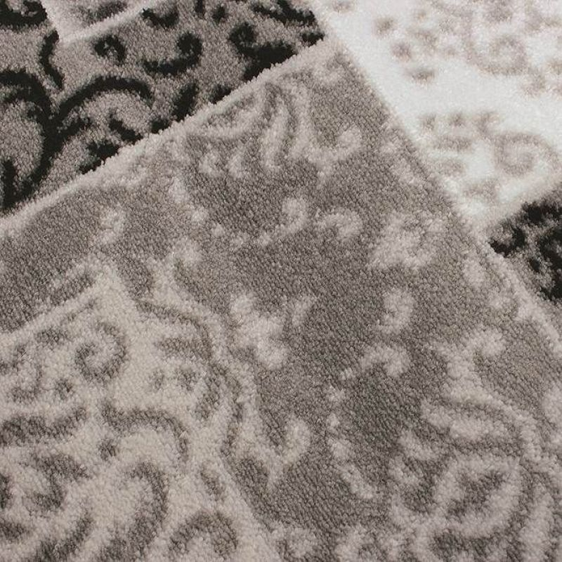 tapis patchwork gris artisan flair rugs 80x150. Black Bedroom Furniture Sets. Home Design Ideas