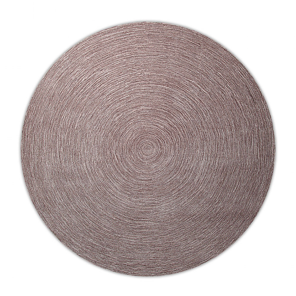 tapis rond moderne taupe esprit home colour in motion 200x200. Black Bedroom Furniture Sets. Home Design Ideas