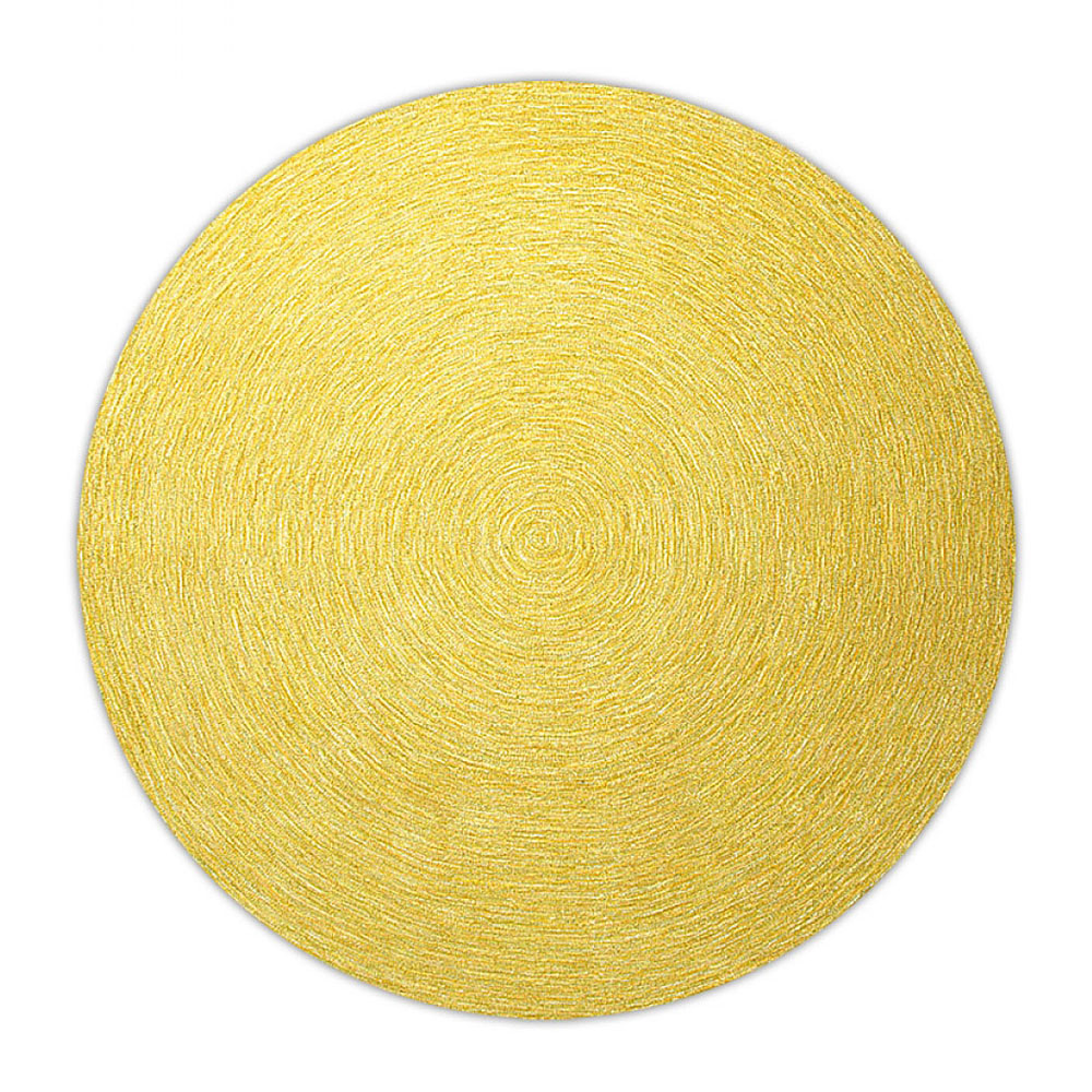 tapis rond moderne jaune esprit home colour in motion 200x200