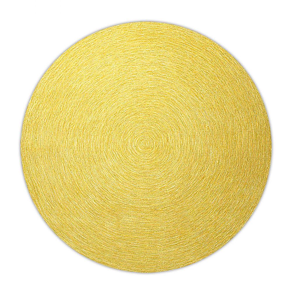 Tapis rond moderne jaune esprit home colour in motion 200x200 - Tapis rond jaune ...