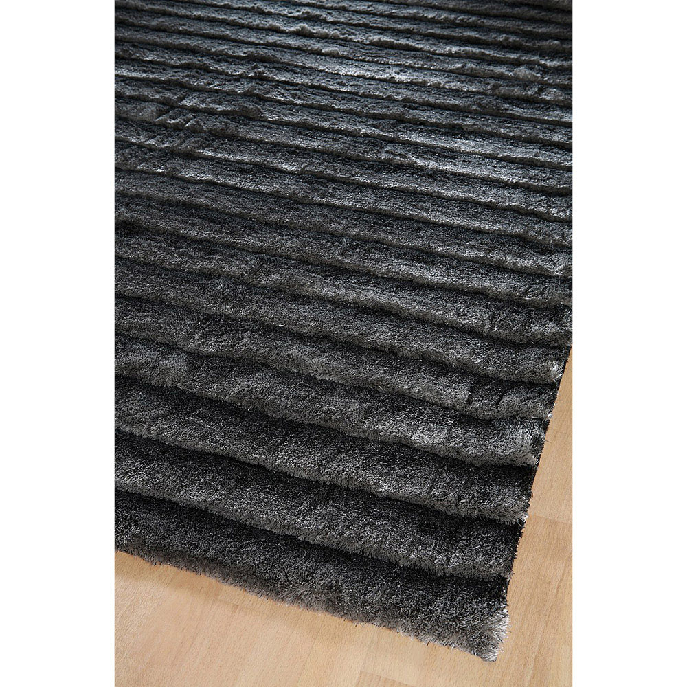 tapis shaggy gris fonc dune home spirit 170x230. Black Bedroom Furniture Sets. Home Design Ideas