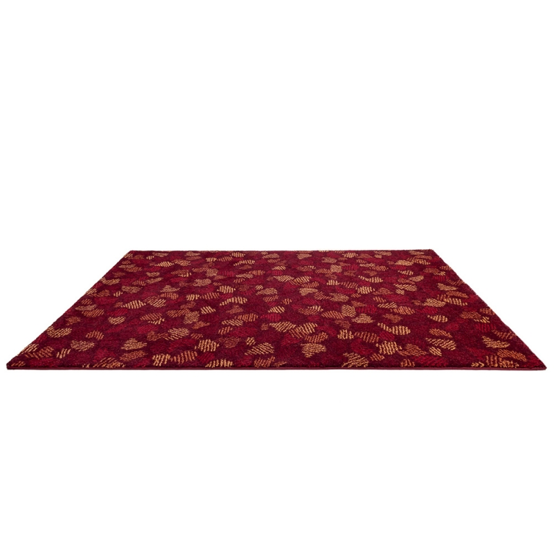 tapis flying leaves rouge edito paris 160x230. Black Bedroom Furniture Sets. Home Design Ideas