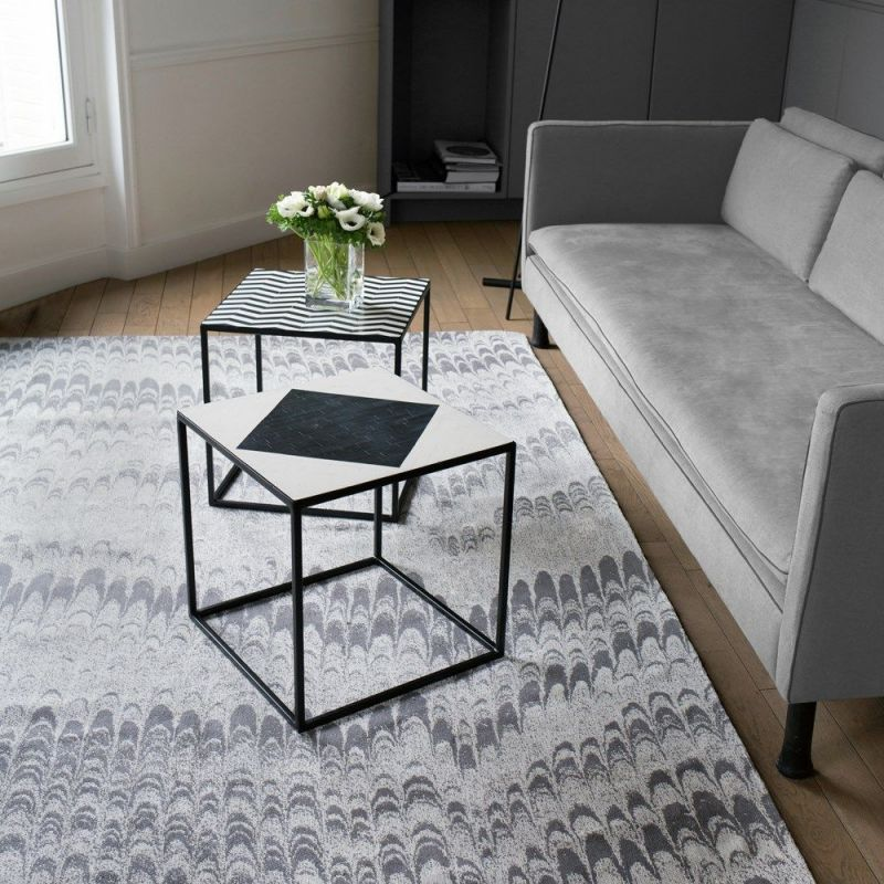 tapis moderne peacok edito paris gris 170x240. Black Bedroom Furniture Sets. Home Design Ideas