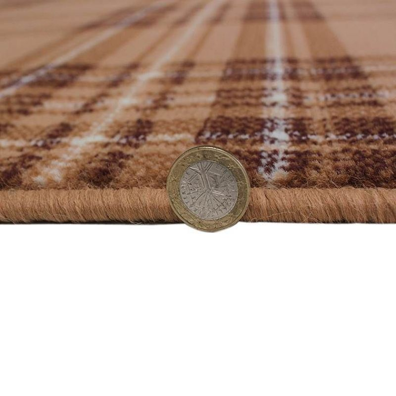 tapis moderne beige check flair rugs 160x230. Black Bedroom Furniture Sets. Home Design Ideas