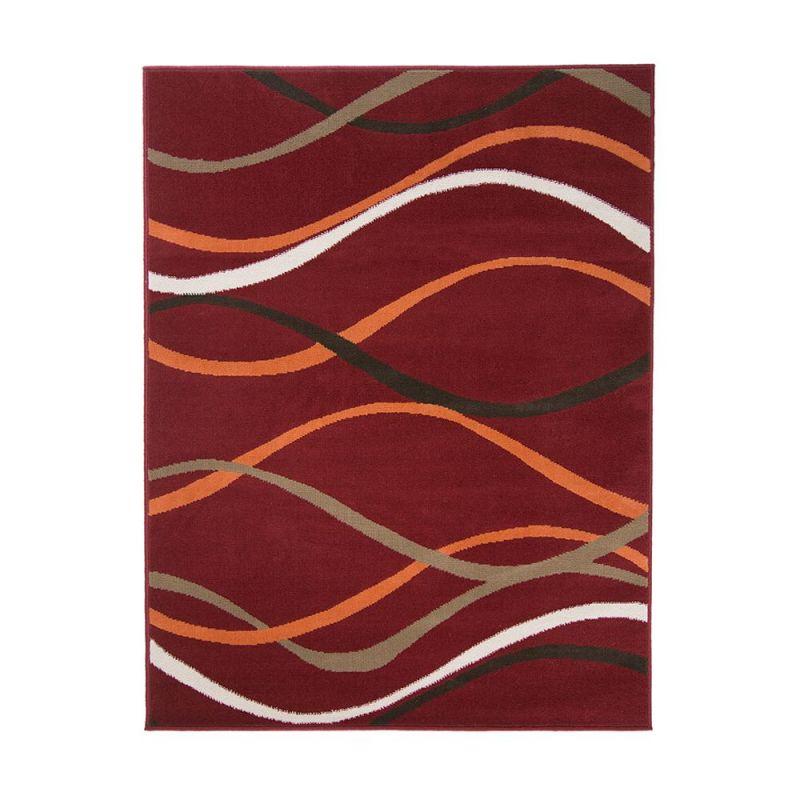 tapis moderne rouge et orange curve flair rugs 160x230. Black Bedroom Furniture Sets. Home Design Ideas