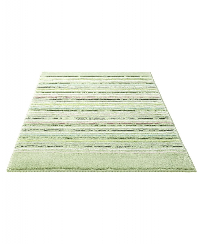 tapis de bain esprit home vert cool stripes 60x100. Black Bedroom Furniture Sets. Home Design Ideas
