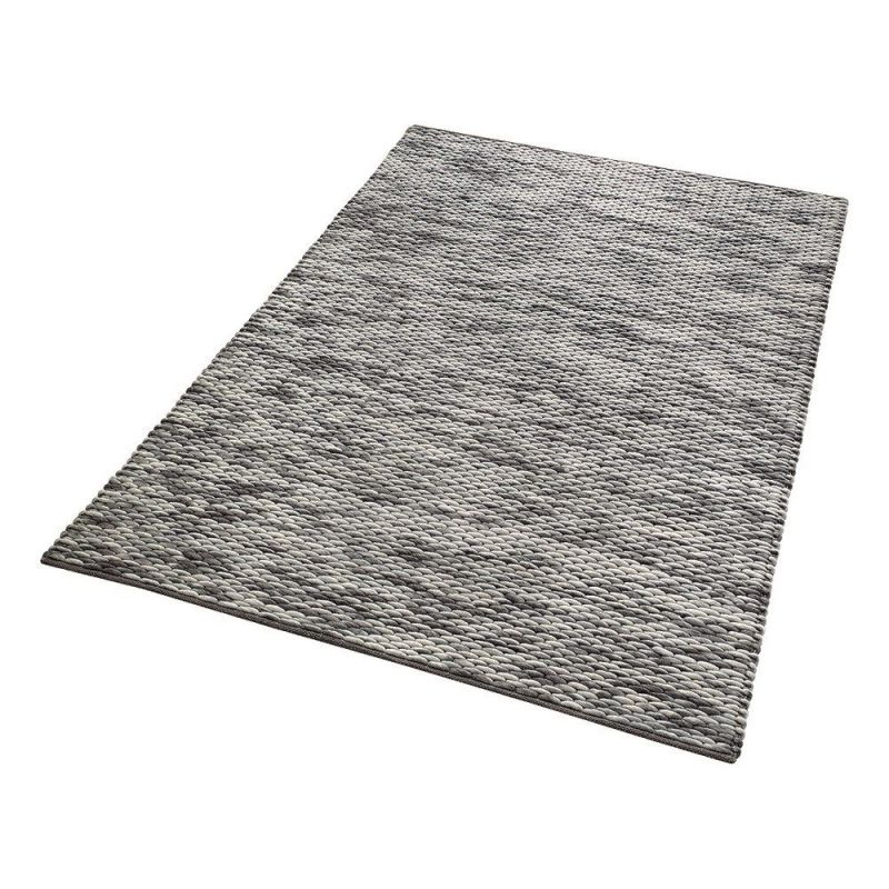 tapis moderne reflection gris 60x110. Black Bedroom Furniture Sets. Home Design Ideas