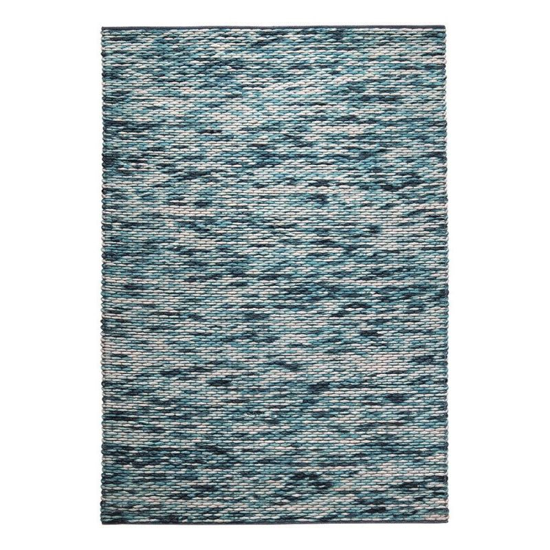tapis reflection moderne bleu 130x190. Black Bedroom Furniture Sets. Home Design Ideas