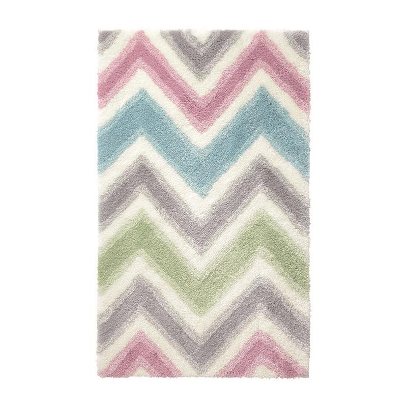 tapis de bain esprit home zick zack multicolore 60x100. Black Bedroom Furniture Sets. Home Design Ideas