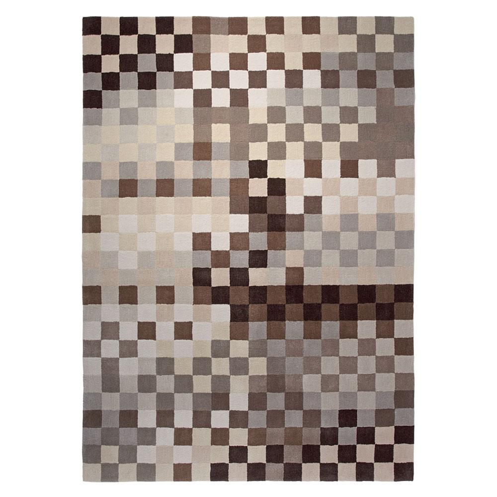 Tapis pixel marron et beige esprit home moderne 140x200 Tapis beige et marron