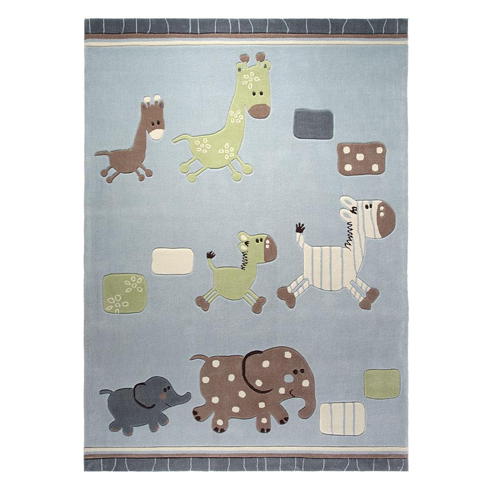 tapis enfant lucky zoo esprit home gris 120x180. Black Bedroom Furniture Sets. Home Design Ideas