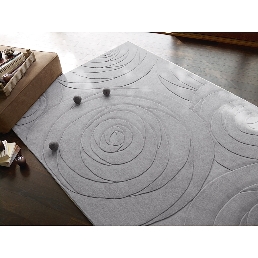tapis esprit home gris beige carving art moderne 140x200. Black Bedroom Furniture Sets. Home Design Ideas