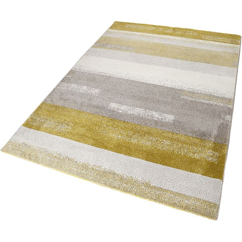 tapis moderne dreaming ocre et gris esprit 80x150. Black Bedroom Furniture Sets. Home Design Ideas