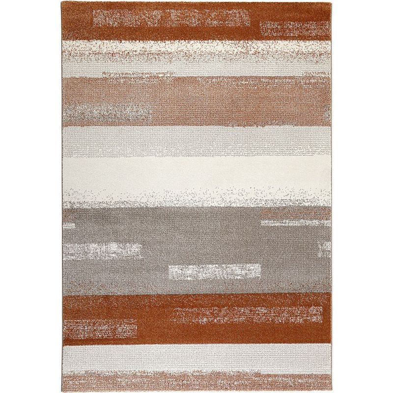 tapis orange et gris moderne dreaming esprit 200x290. Black Bedroom Furniture Sets. Home Design Ideas