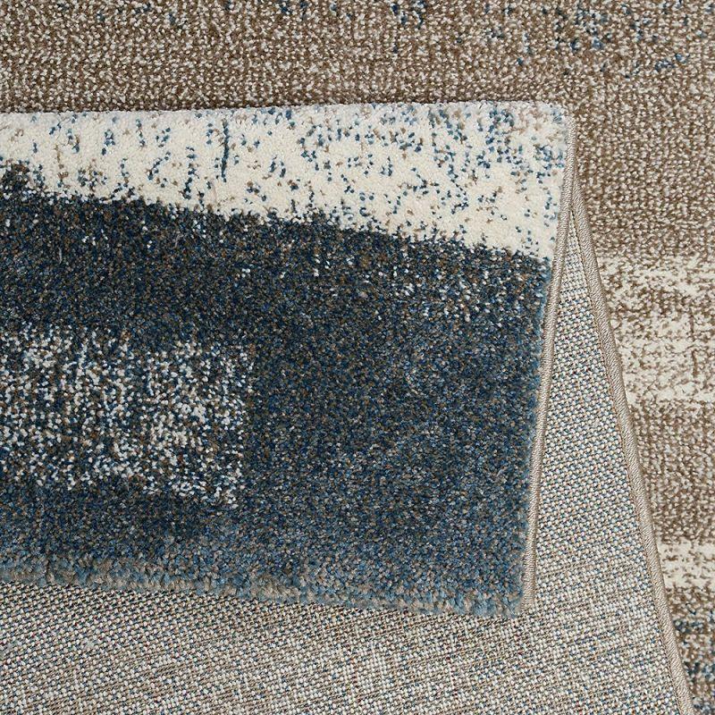 tapis moderne dreaming bleu et gris esprit 80x150. Black Bedroom Furniture Sets. Home Design Ideas