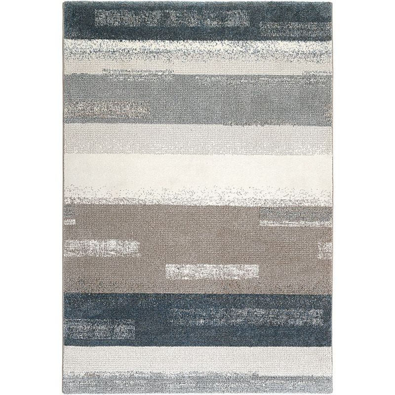tapis moderne esprit dreaming bleu et gris 160x225. Black Bedroom Furniture Sets. Home Design Ideas