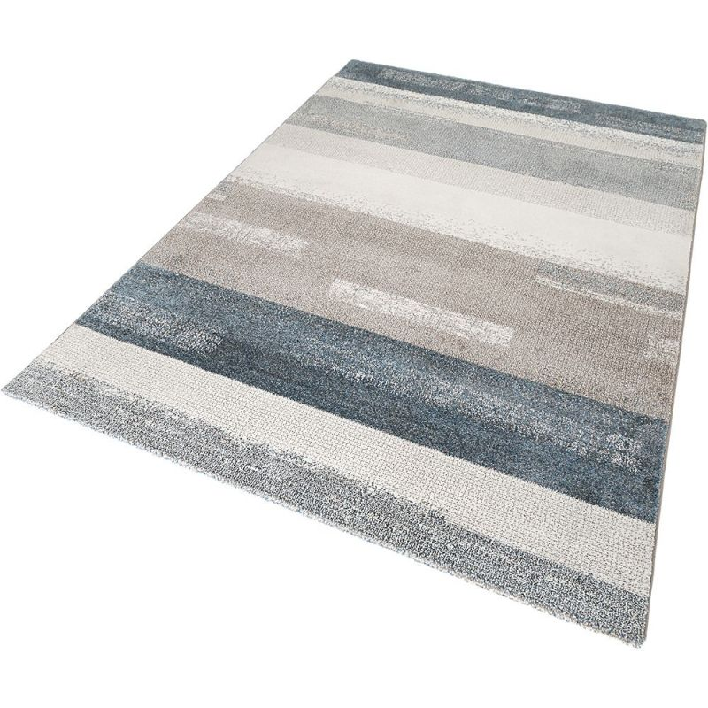 tapis moderne dreaming bleu et gris esprit 80x150. Black Bedroom Furniture Sets. Home Design Ideas