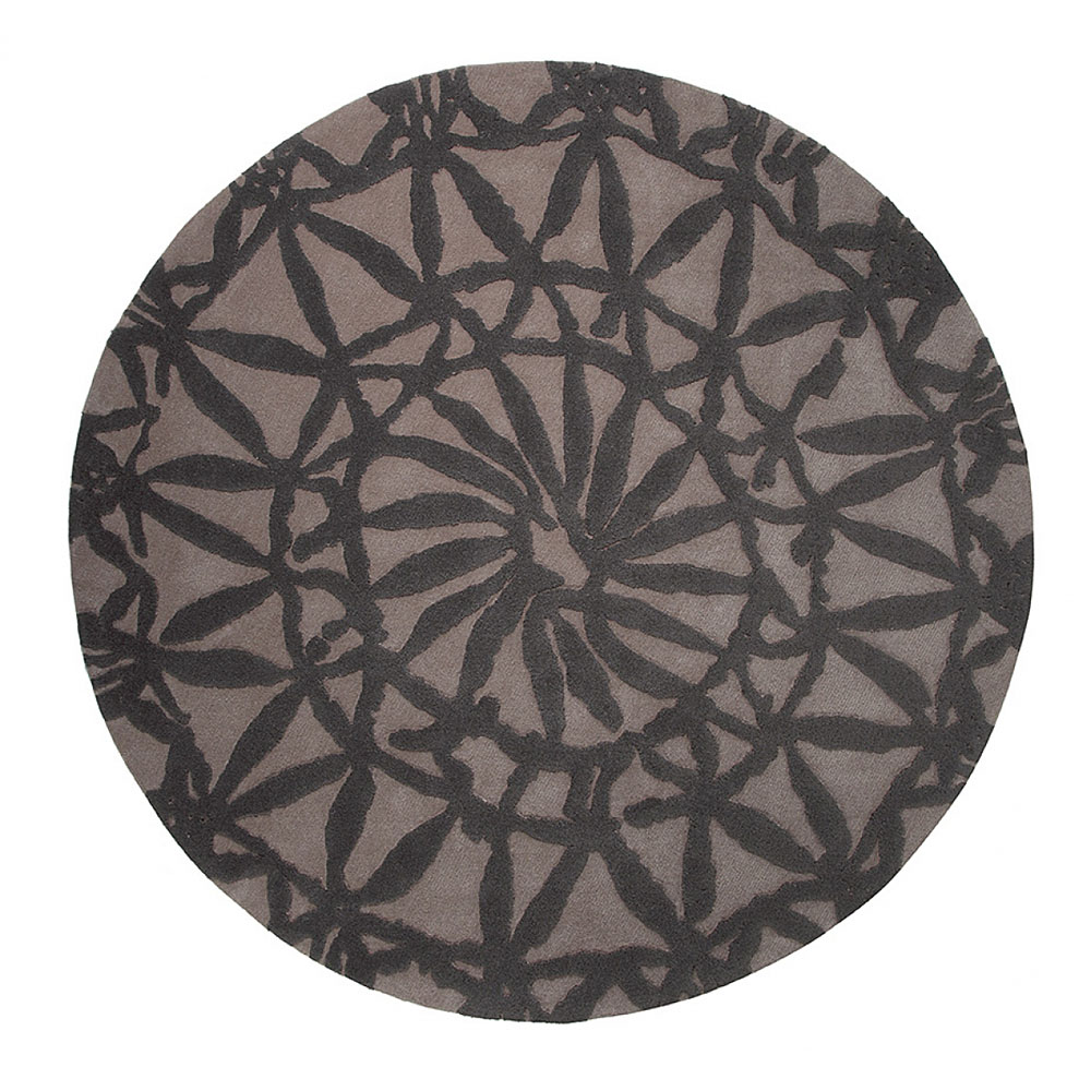 tapis rond taupe esprit home oriental lounge 100x100. Black Bedroom Furniture Sets. Home Design Ideas